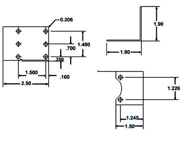 LASCHV282451-002 Mounting bracket kit for 3/8 & 1/2 valves