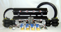 "LRD AIR MGT KIT #4 Xtreme Air Kit (2) VIAIR 444c Compressors (8) GC Xtreme 1/2"" 450 psi Valves (1) AVS 7 Switchbox Black (1) LRD 165/200 Pessure Switch (2) 40amp Relays w/ Sockets (2) AVS Dual Needle Gauges 200psi (1) AVS Single Needle Gauge 200psi (50) 1/2"" D.O.T Airline (50) 1/8"" D.O.T Airline (2) Slam Specialties RE6 Airbags (2) Slam Specialties RE7 Airbags (2) 5 Gallon 5 Port Air Tanks (1) 250psi Safety Valve"