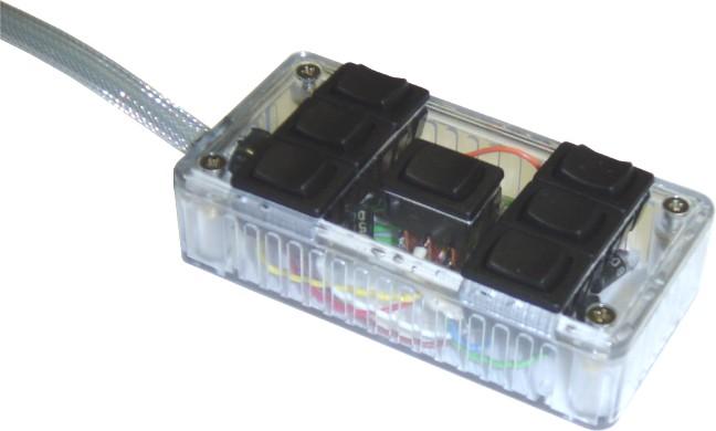 """AVSARC-7-CL Clear 7 switch box rocker switch 4""""x2""""x1"""""""