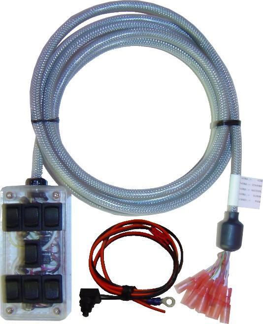 "AVSARC-7-LED LED display 7 switch box rocker switch 4""x2""x1"" Specify LED Color"