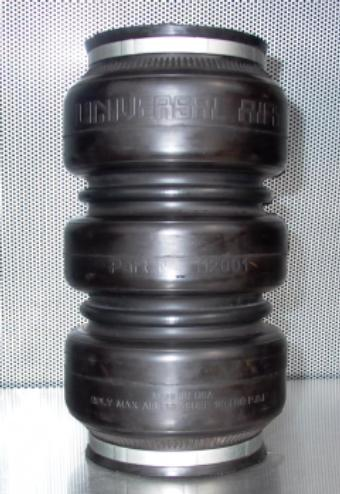 """UVAIR Triple Play 15"""" designed for rear suspension 4.5"""" compressed, 15.75"""" extended 5.875"""" diameter 1/2 ports 2500lb."""
