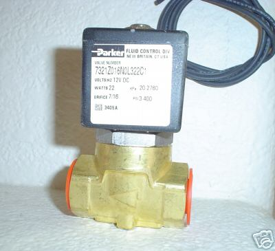 "PKR 3/8"" Parker Electric Valve 7/16"" Orifice 250 psi 7321Z016N0L322C1"