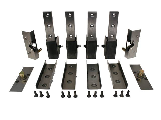 LRD Suicide Door Hinge Kit Complete 2 door kit includes 4 hinges, Bearjaw latches, plates for latches & strikers