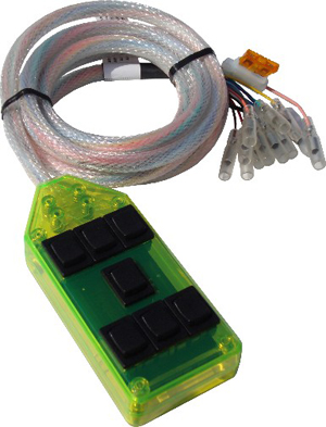 "AVSARC-7-GN Green 7 switch box rocker switch 4""x2""x1"""