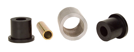 """LRD 4 Link Weld on Bar Ends 2"""" wide x 2"""" OD 1/4 wall w/ bushings & sleeve *** Uses 1/2"""" Mounting Bolt ***"""