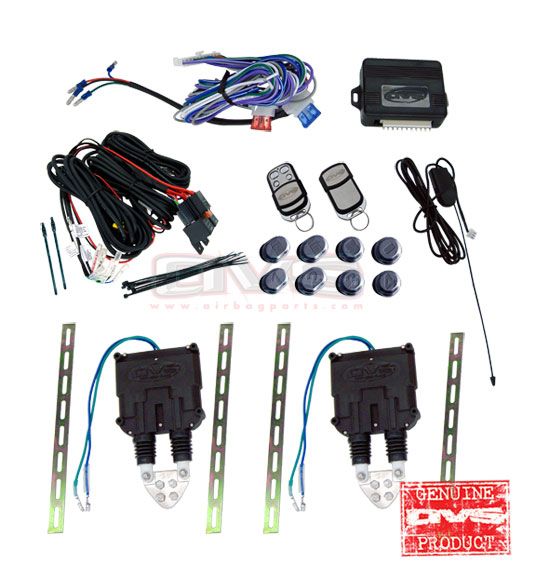 AVSSDKUNI-8 Universal Shaved Door Kit w/. Wiring Harness and 8 Channel Remote System