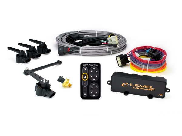 ACCUAIR e-Level Touchpad Electronic Leveling System (4 way) with BLACK Anodized TouchPad Interface AA-ELS4-TPAD-BA
