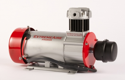 "ExtremeAire Magnum 12 Volt Compressor Part# 007-222 Specs: -1.5 HP Motor -82 amps draw @ 100 psi -Continuous Duty Rating @ 150 psi, 200 psi max pressure -6 CFM @ 0 psi -2.6 CFM @ 100 psi"" -Weight: 20 lbs. -Dimensions: 16"" long x 6"" wide x 9.5"" tall FILL TIME ON 5 GAL TANK 1:28 MUST USE 002-097 CHECK VALVE"