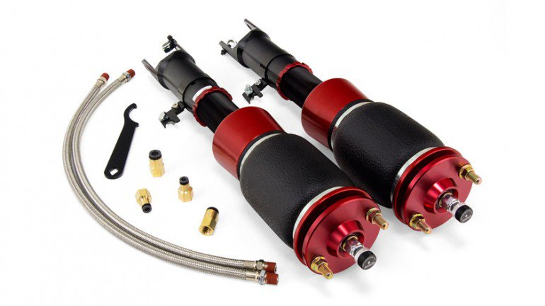 """AIR-78549 Front Kit Honda S2000 (2000-2009) Drop = 103mm/4.1"""" Durable double bellows springs 30-level damping adjustable, monotube, threaded body struts Adjustable camber plates High quality spherical ball upper mounts"""