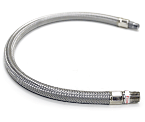 "VIA92792 Viair 24"" Stainless Leader Hose (3/8"" M to 3/8"" M, NPT, Swivel)"