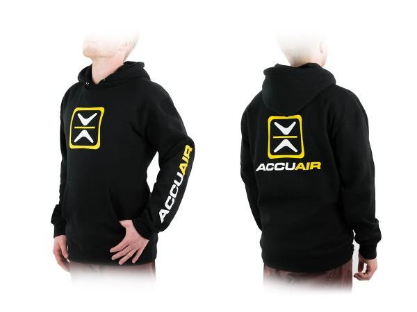 """ACCUAIR AA-HOOD-BLK-OG L AccuAir """"O.G."""" Design Black Hoodie Sweatshirt L"""