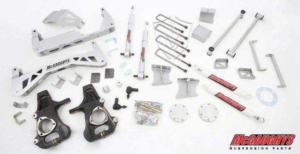 "MCG50700 7"" Premium Stainless Steel Lift Kit for 2007-2013 GM Truck 1500 (2WD) (Silver Powdercoated)"