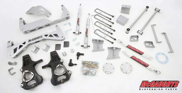 "MCG50720 7"" Premium Stainless Steel Lift Kit for 2007-2013 GM Truck 1500 (4WD) (Silver Powdercoated)"