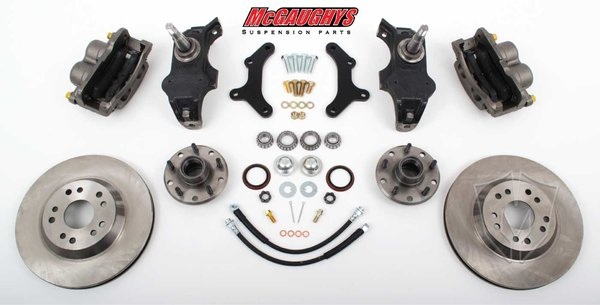 "MCG63257 13"" Big Brake Kit 55-57 Chevy Car, 13"" Front Disc Kit w/ 2"" spindles (must use 17""+ rims)"