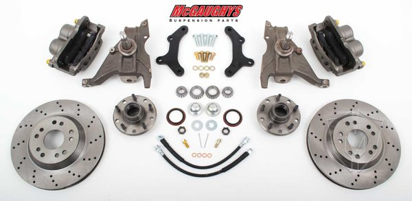 "MCG64080 13"" Big Brake Kit 79-81 Camaro, 13"" Front Disc Kit w/ 2""spindles **Cross Drilled**"