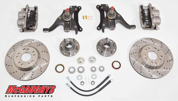 "MCG93125 13"" Big Brake Kit 82-03 S10 13"" Front Disc Kit w/ 2"" spindles (5 on 4.75) **must use 17""+ rims** **Cross Drilled**"
