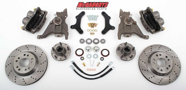 "MCG64078 13"" Front Disc Brake Kit for 1970-1978 Chevy Camaro (5x4.75, Cross-Drilled)"