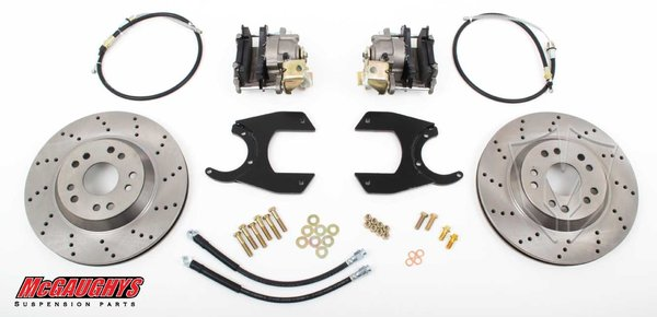 "MCG64201 13"" Rear Disc Brake Kit for factory 12 bolt rear-end (5x4.75, Cross-Drilled)"