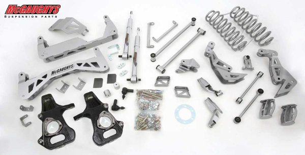 "MCG50728 7"" Premium Lift Kit for 2007-2013 GM SUV 1500 (2WD, Not Auto Leveling) (Silver Powdercoated)"