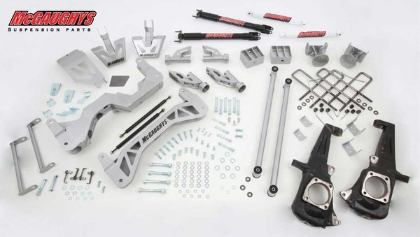 "MCG52300 7"" Premium Lift Kit for 2011-2016 GM 2500 (2WD) (Silver Powdercoated)"