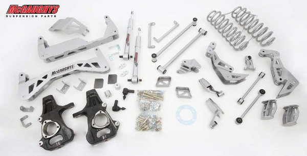 "MCG50735 7"" Premium Lift Kit for 2007-2013 GM SUV 1500 (4WD, Auto Leveling) (Silver Powdercoated)"
