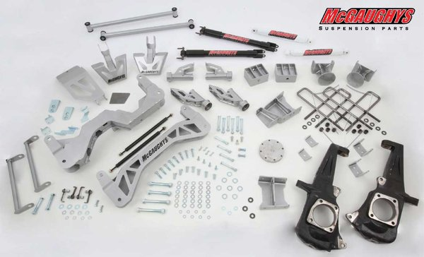 "MCG52353 7"" Premium Lift Kit for 2011-2016 GM 2500 (4WD, Gas Motor) (Silver Powdercoated)"