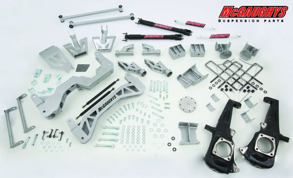 "MCG52354 7"" Premium Lift Kit for 2011-2016 GM Truck 3500 (4WD, Gas Motor) (Silver Powdercoated)"