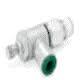 """NUMINB136C-104-020 Knob Adjust Flow Control 1/4""""ptc 1/8""""npt"""