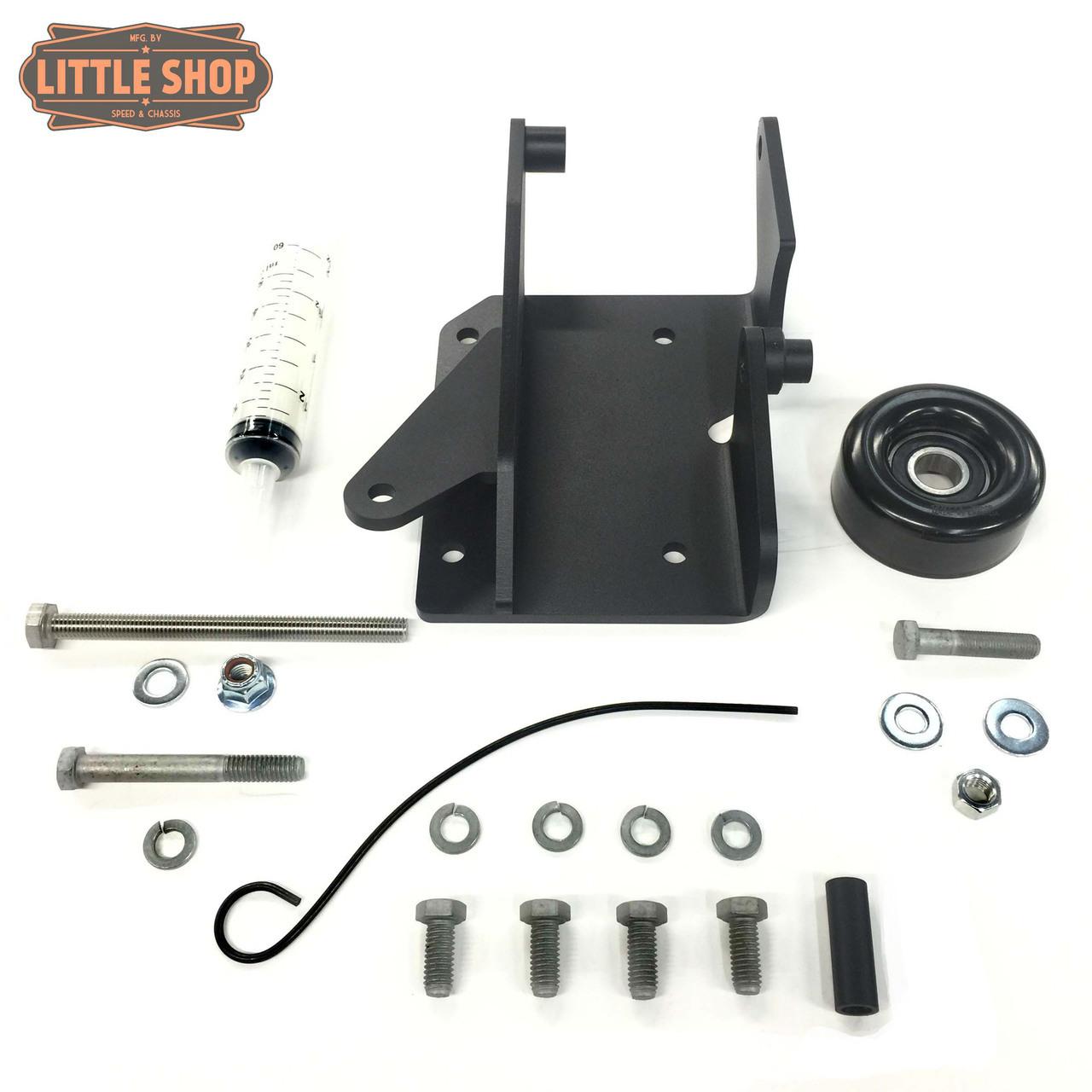 LSMFG-Pre V-JYD 90'-95' GM 4.3, 5.0, 5.7 Pre-Vortec Engine Driven Compressor Junkyard Dog Kit (Bracket, Hardware and pulley only)