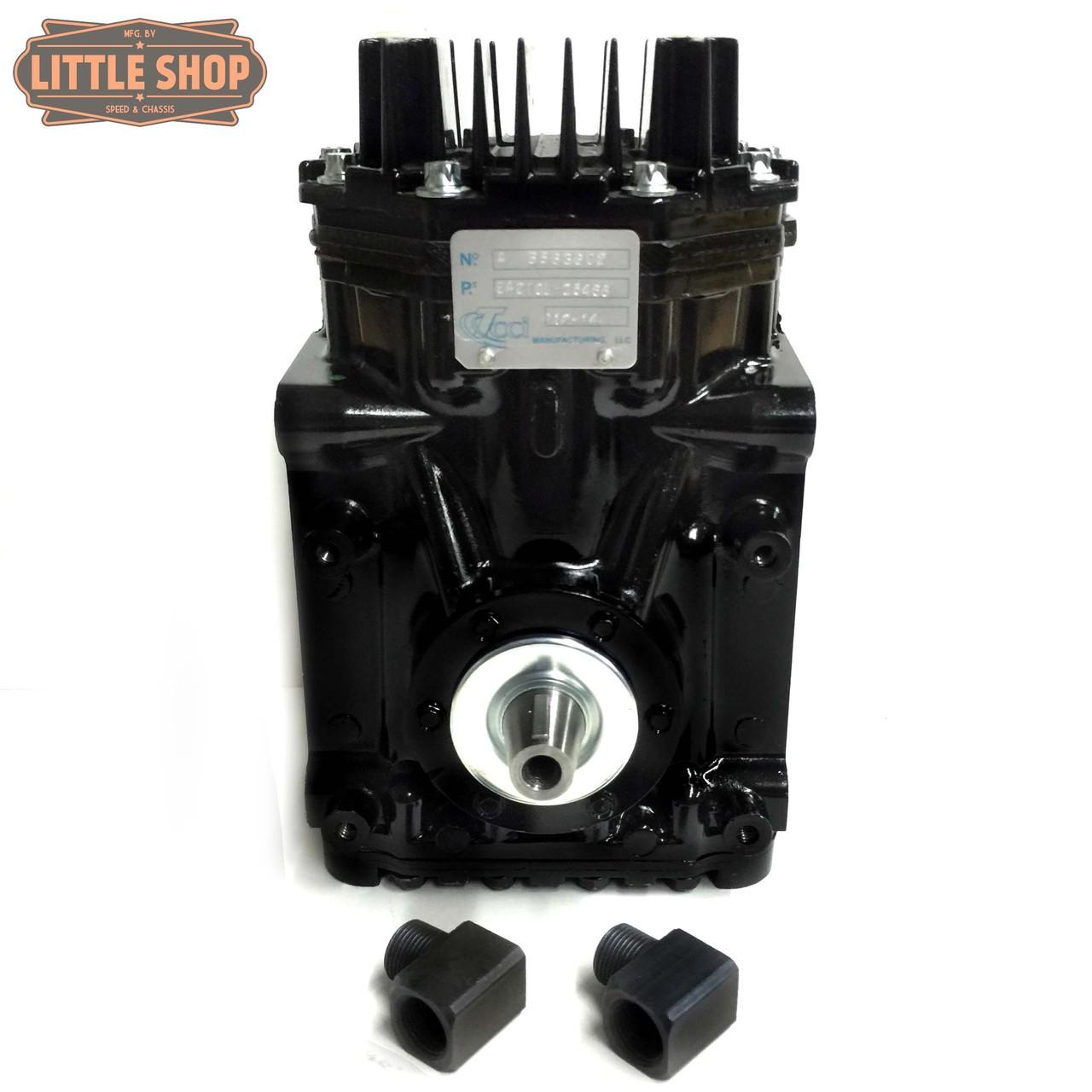 LSMFG-Vortec-SLM 96'-07' GM 4.3, 5.0, 5.7 Vortec Super Low Maintenance Engine Driven Compressor Kit (same kit as EDC kit but with upgraded SLM compressor)