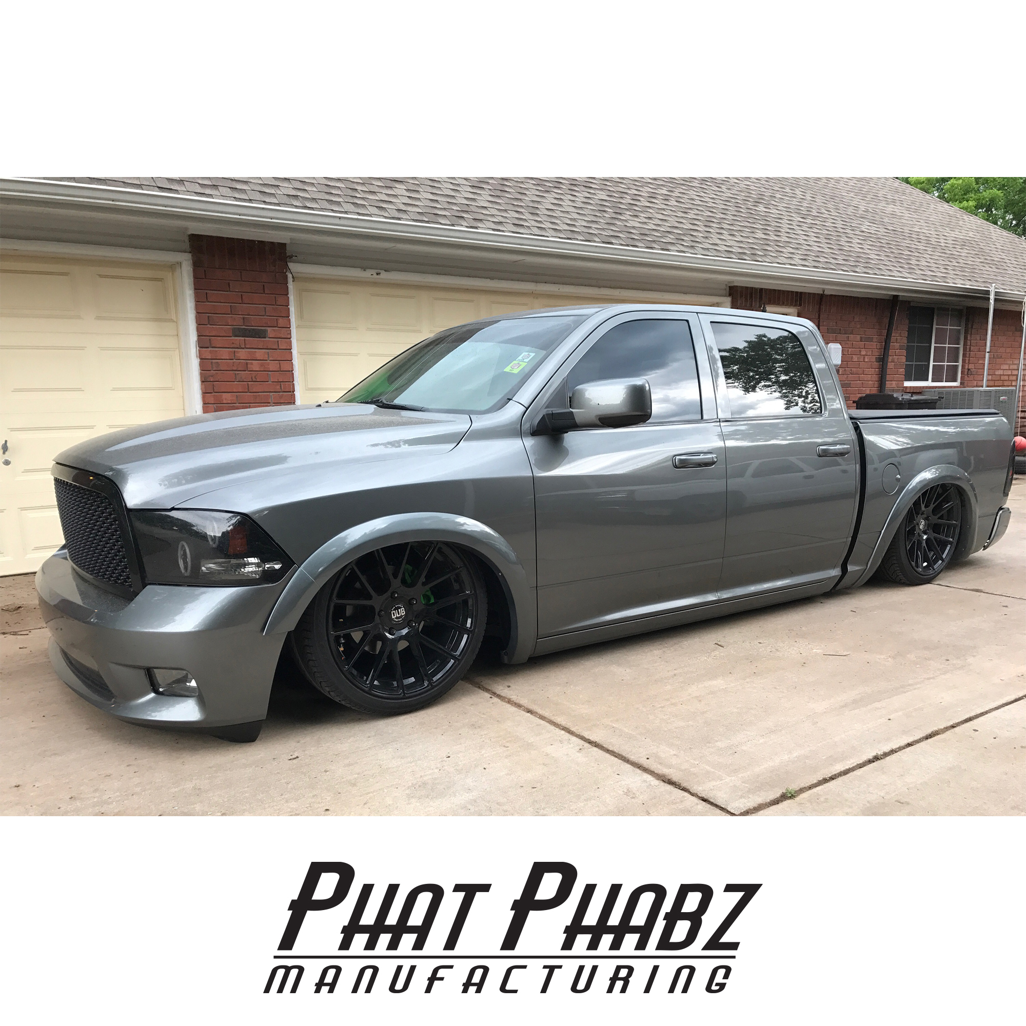 "PHA 1004 Phat Phabz 09'- 16' Dodge Ram Front Kit Features a 1"" Narrowed Tack Width, Moog Ball Joints, Monroe shocks, W/ Steering Kit made up of 3/4"" Chromoly Heims **will lat up to a 33"" tire** **Spindles will need to be sent to Phat Phabz for machine work**"