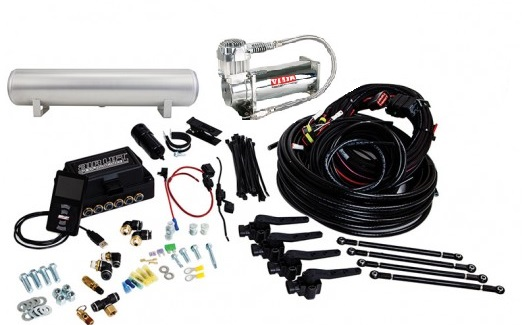 "LRD Airlift 3H Package (1) Airlift 3H/3P 1/4"" w/ Height Sensors (1) Airlift 4 Gallon Aluminum Tank (1) Viair 444c Compressor"