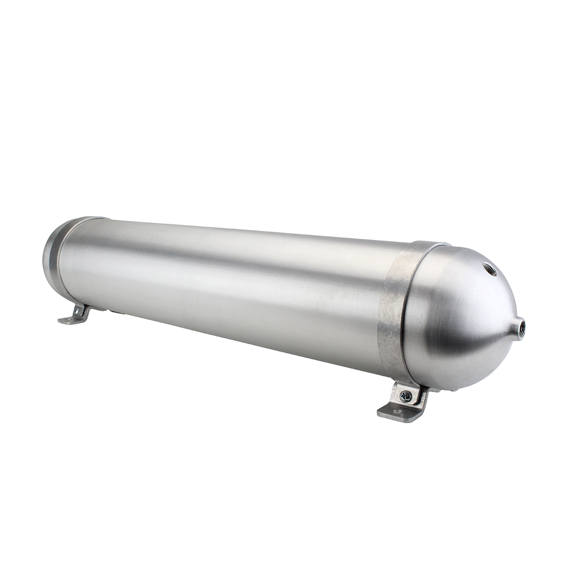 "SA532038-01 Seamless Tanks Aluminum Air Tank 32"" Length 5.562"" Diameter (4) 3/8"" Ports (1) 1/4"" Port, 200psi Rated, Actual Volume 2.81 Gallons"