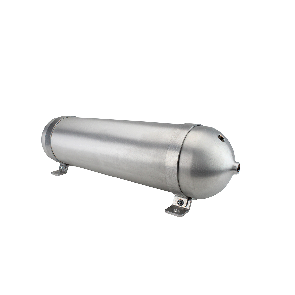 "SA524038-01 Seamless Tanks Aluminum Air Tank 24"" Length 5.562"" Diameter, (4) 3/8"" Ports (1) 1/4"" Port, 200psi Rated, Actual Volume 2.04 Gallons"