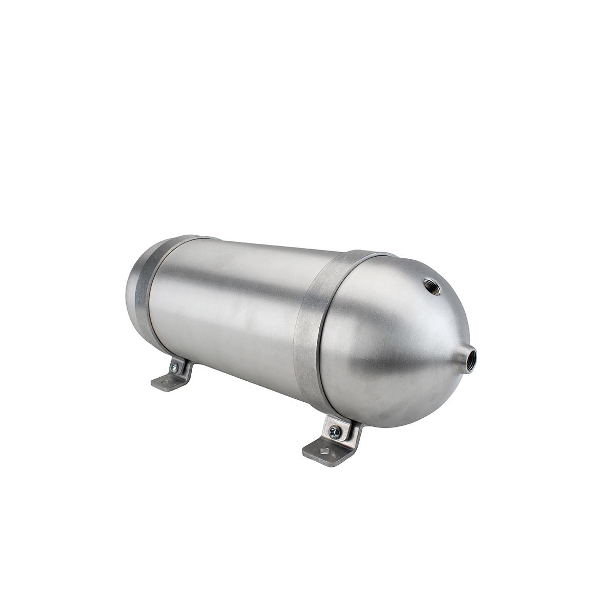"SA518038-01 Seamless Tanks Aluminum Air Tank 18"" Length 5.562"" Diameter, (4) 3/8"" Ports (1) 1/4"" Port, 200psi Rated, Actual Volume 1.47 Gallons"