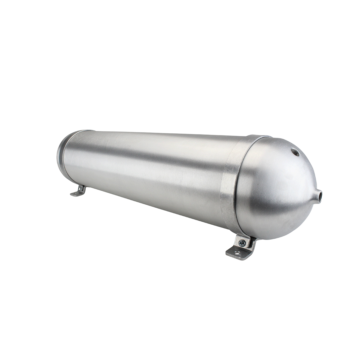 "SA632038-01 Seamless Tanks Aluminum Air Tank 32"" Length 6.625"" Diameter, (4) 3/8"" Ports (1) 1/4"" Port, 200 psi Rated, 4 Gallons"