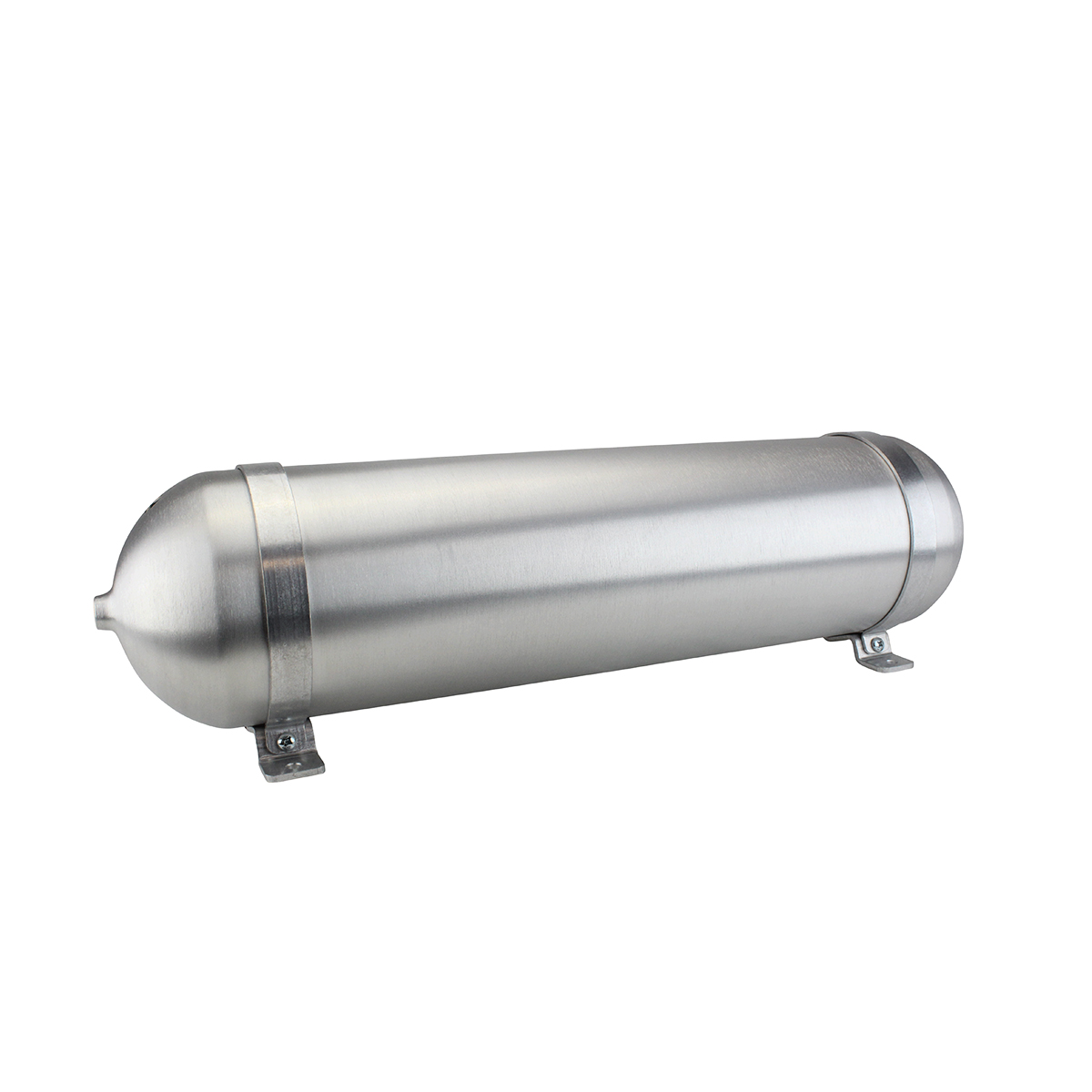 "SA628038-01 Seamless Tanks Aluminum Air Tank 28"" Length 6.625"" Diameter, (4) 3/8"" Ports (1) 1/4"" Port, 200psi Rated, 3.44 Gallons"