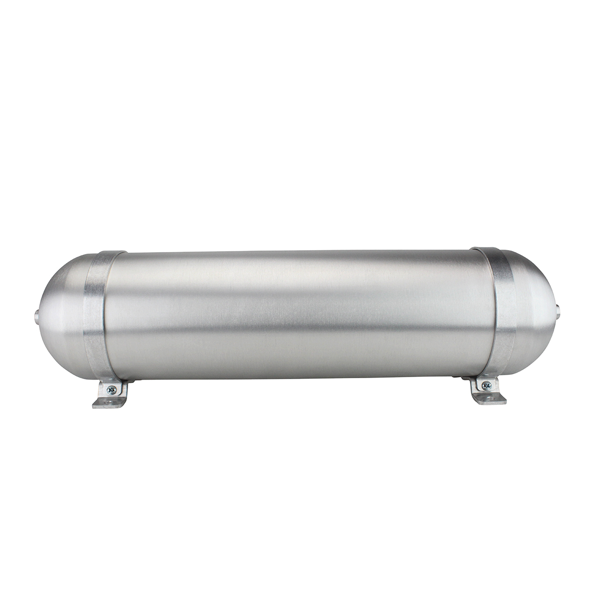 "SA624038-01 Seamless Tanks Aluminum Air Tank 24"" Length 6.625"" Diameter, (4) 3/8"" ports (1) 1/4"" Port, 200psi Rated, 2.89 Gallons"