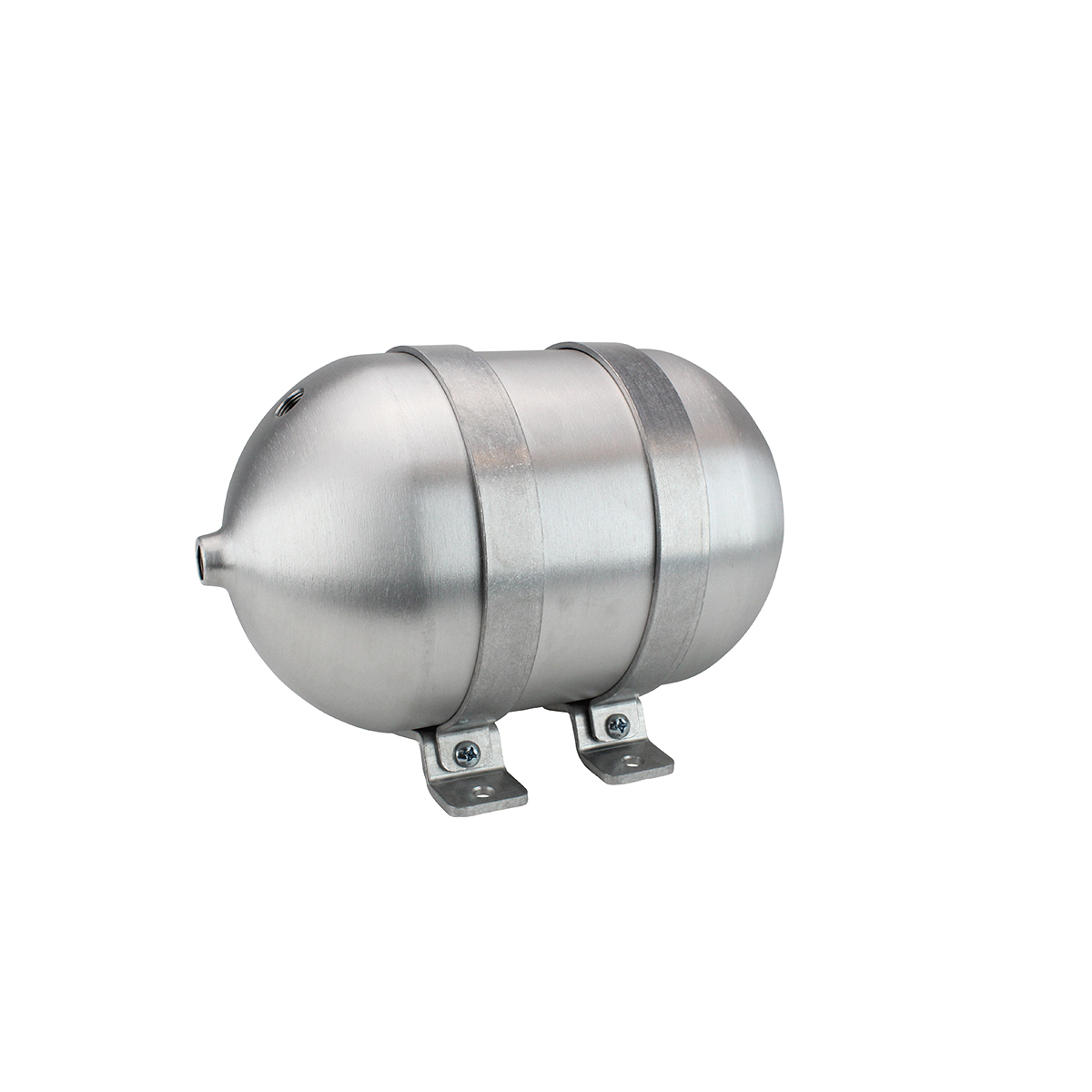 "SA612038-01 Seamless Tanks Aluminum Air Tank 12"" Length 6.625"" Diameter, (4) 3/8"" Ports (1) 1/4"" Port, 200psi Rated, Actual Volume 1.25 Gallons"