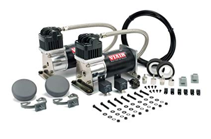 "VIA28002 Viair 280C ""Dual Pack"" (2) 280C ""Silver & Black"" Compressors (2) Relays (1) 150psi Pressure Switch"