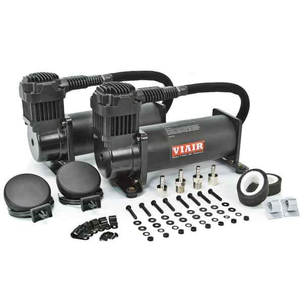 "VIA44442 Viair 444C ""Stealth Black"" Dual Pack (2) 444C 200psi Stealth Black Compressors *100% Duty @ 100psi"